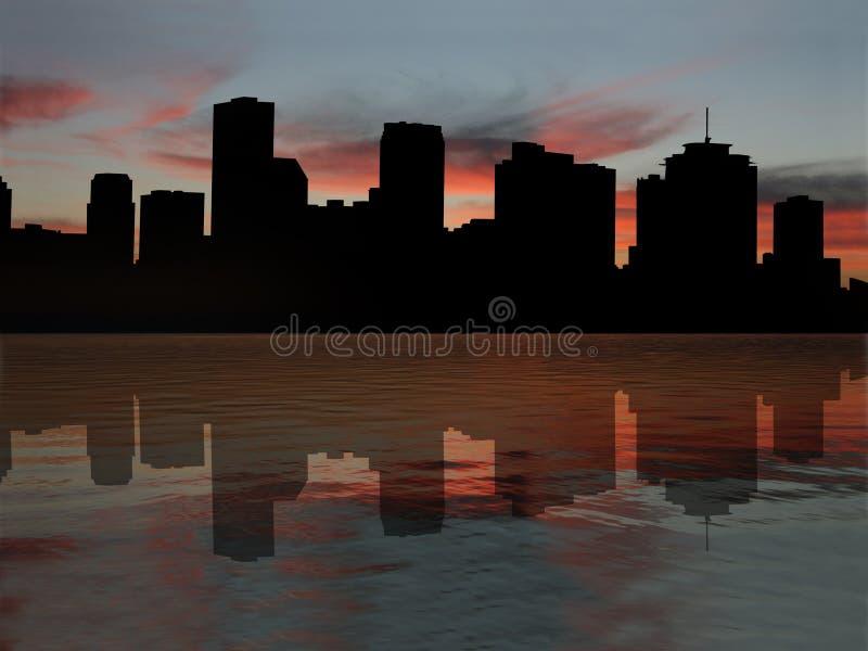 New Orleans am Sonnenuntergang stock abbildung