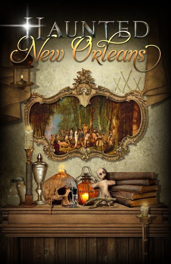 New Orleans spökade voodoo royaltyfria bilder