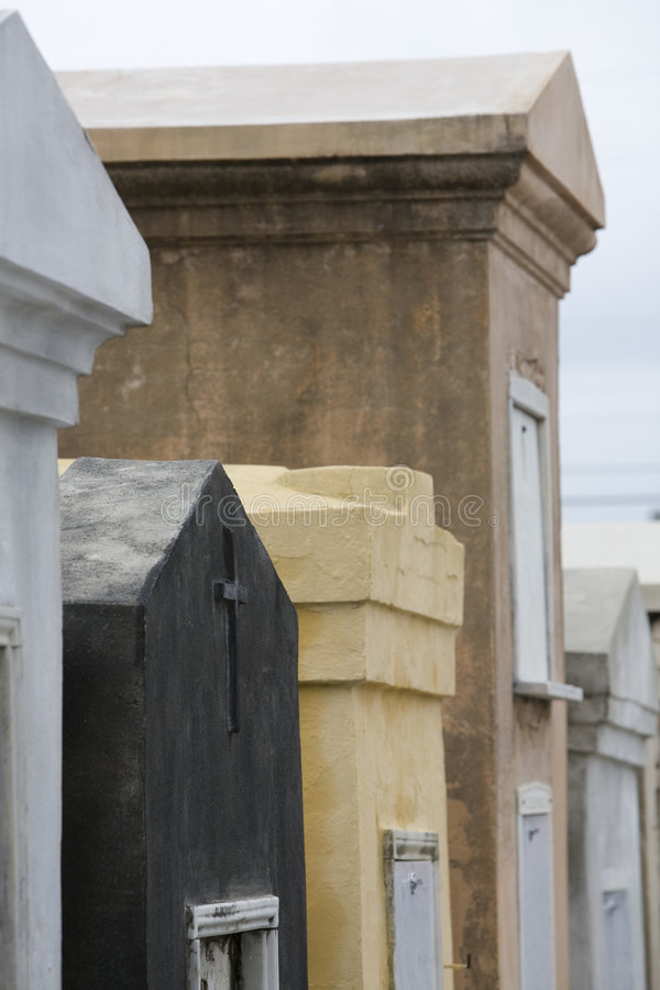 New Orleans St. Louis #1 Cemetery Tombs royalty free stock image