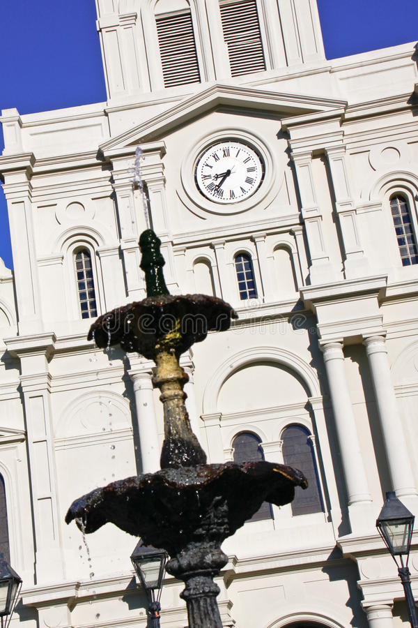 Download New Orleans St Louis Cathedral Fountain Stock Photo - Image: 22254188