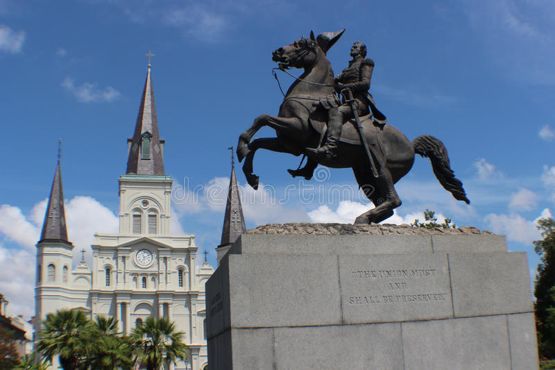 New Orleans Statue stock photography
