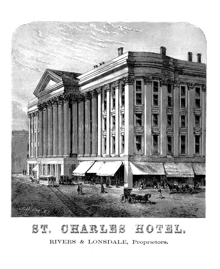 New Orleans Stichillustration stock abbildung