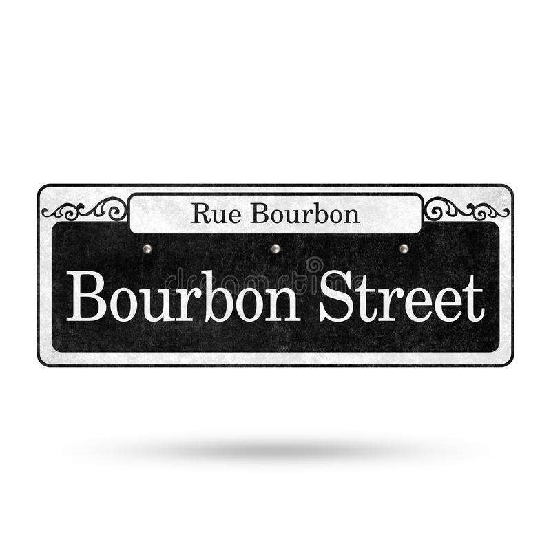 New Orleans Street Signs French Quarter Street Name Collection. Isolated on white background backdrop sign signage name tag table top card wedding receptions royalty free illustration