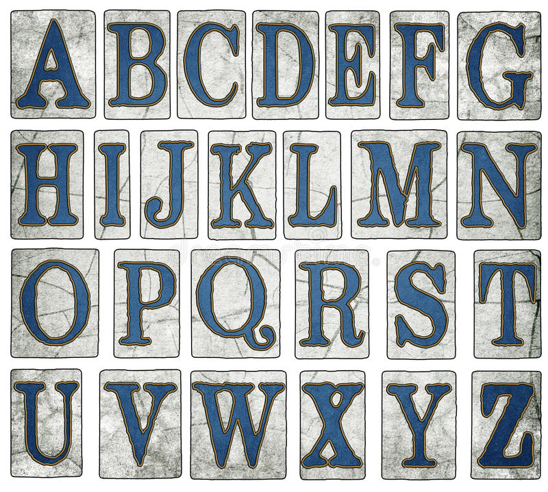 New Orleans Street Tiles Digital Alphabet stock image