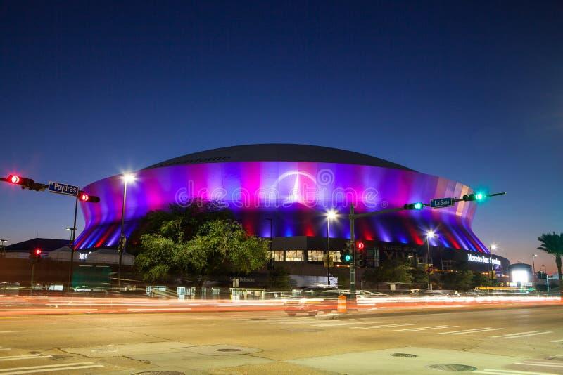 New Orleans Superdome lizenzfreie stockfotografie