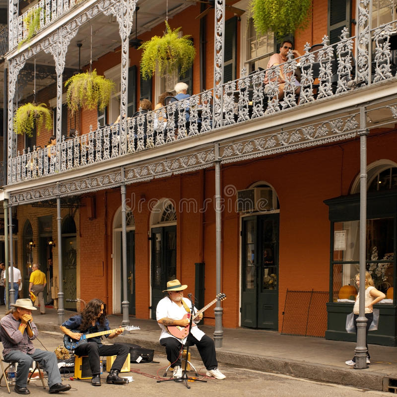 New Orleans - United States of America. Street musicians in the French Quarter of New Orleans - United States of America royalty free stock images
