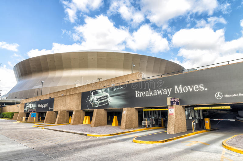 NEW ORLEANS, USA - FEBRUARY 2016: Mercedes-Benz Superdome on a s stock image