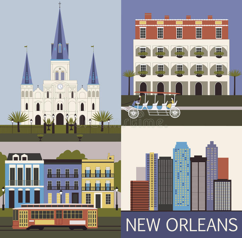 New Orleans. Vektor royaltyfri illustrationer