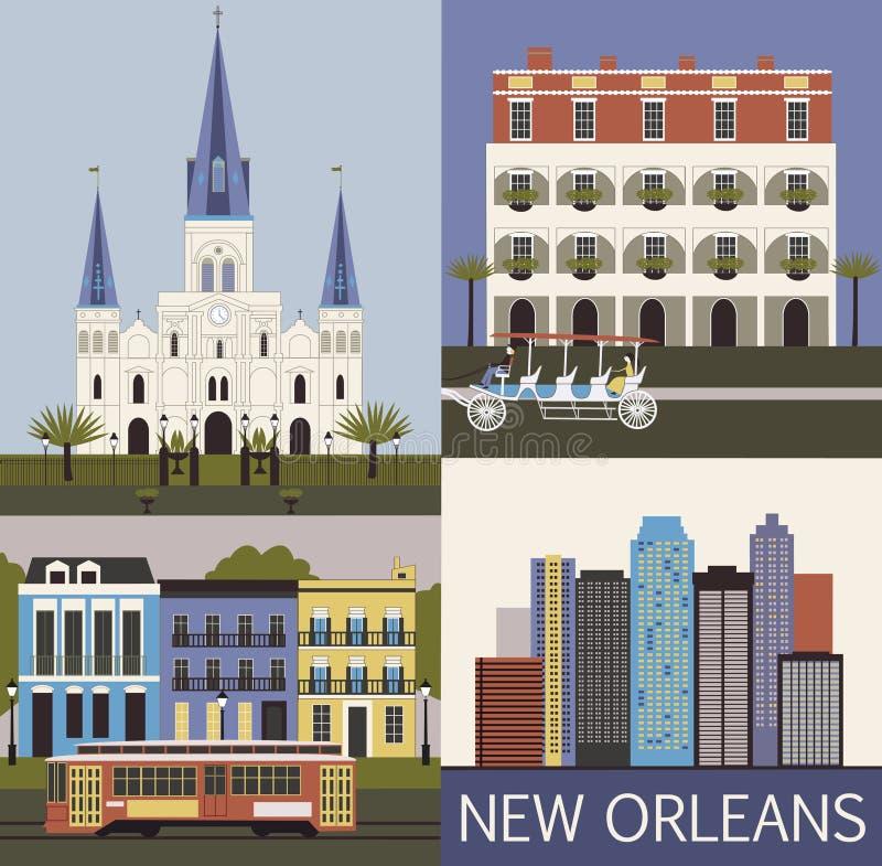 New Orleans. Vettore royalty illustrazione gratis