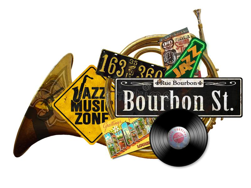 New Orleans Vintage Folk Art Sign royalty free stock photography