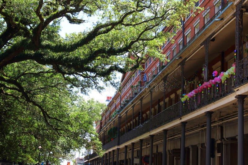 New- Orleansarchitektur im französischen Viertel lizenzfreies stockfoto