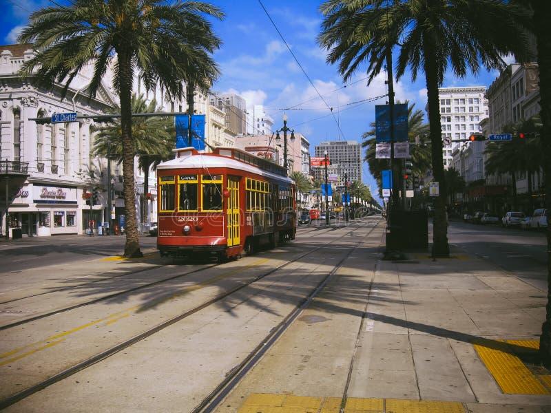 New- Orleanscanal street-Straßenbahn stockbilder