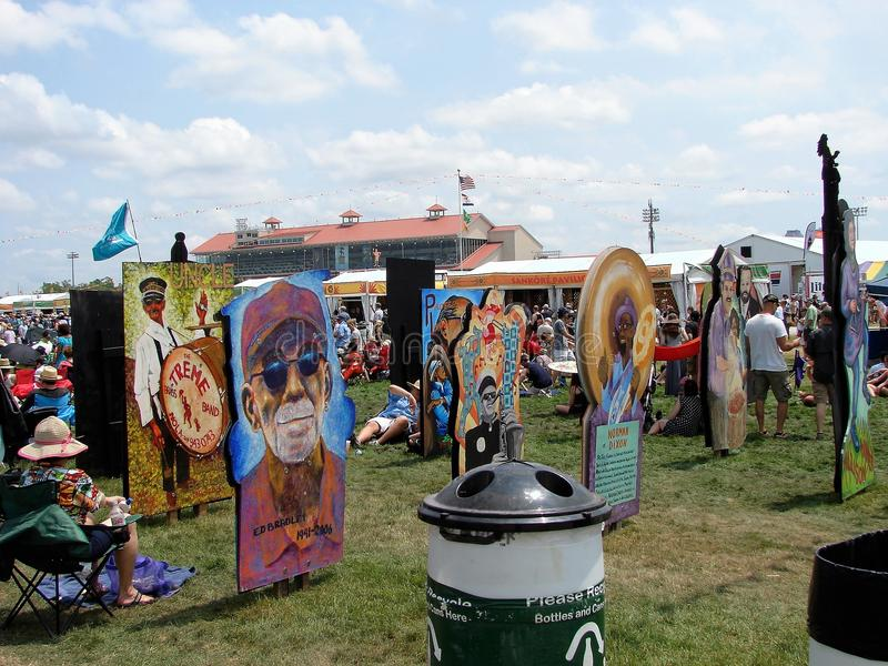 New- Orleansjazz-u. Erbfestival-große einfache Art stockfoto