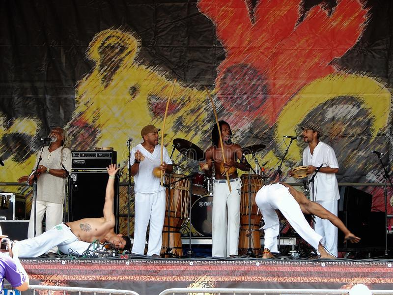 New- Orleansjazz-u. Erbfestival-großes einfaches stockfoto