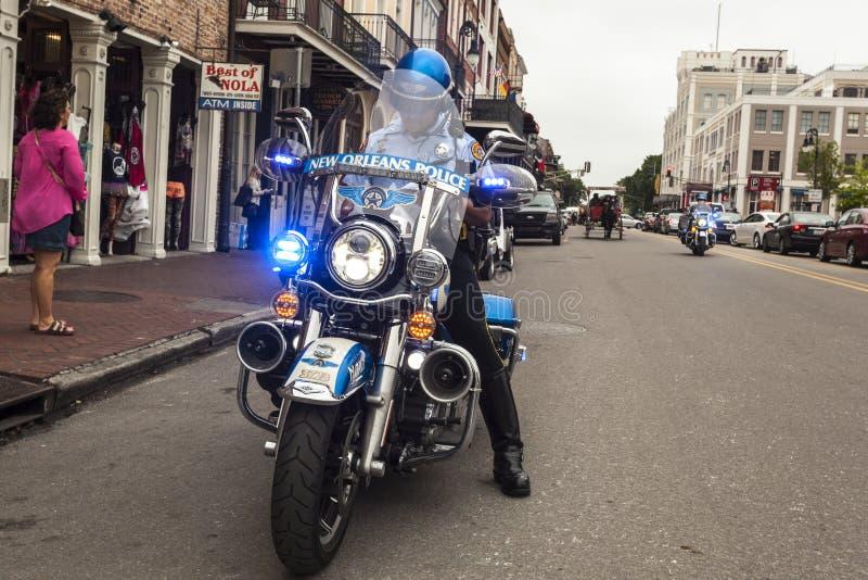 New- Orleanspolizei-Motorrad lizenzfreies stockbild