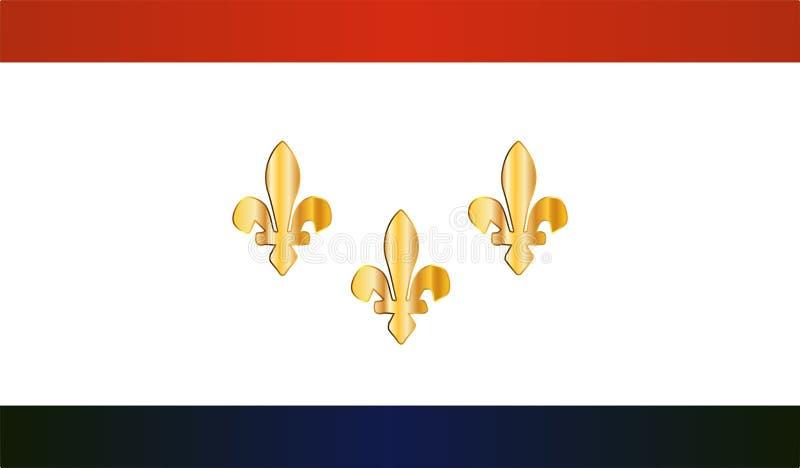 New- Orleansstadt-Flagge lizenzfreie abbildung