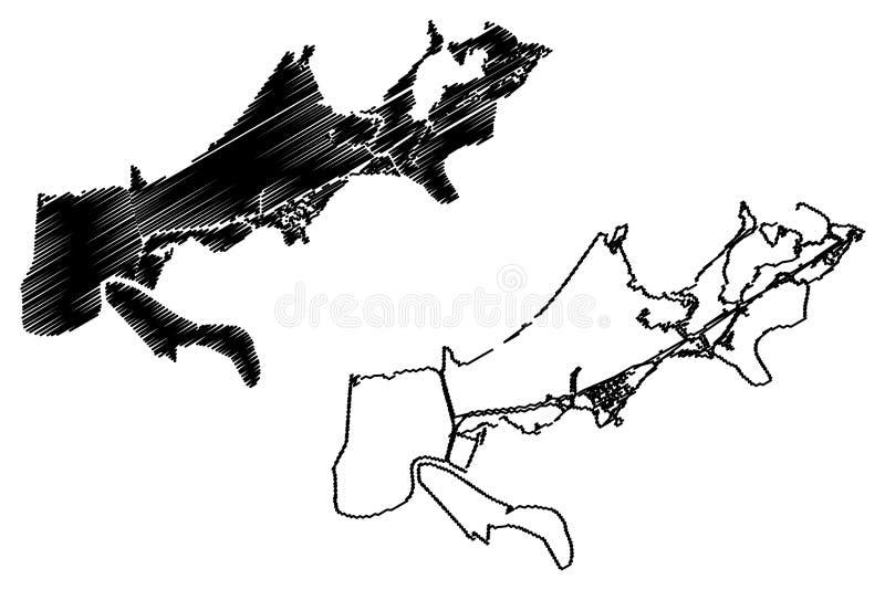 New- Orleansstadtplanvektor vektor abbildung