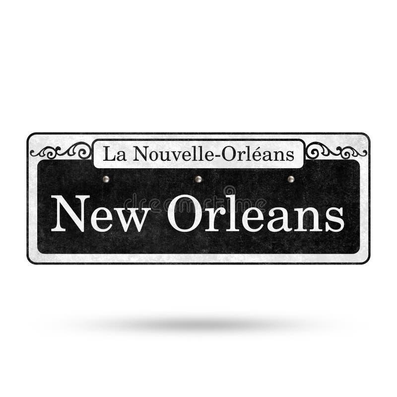 New- Orleansstraßenschild-französisches Viertel-Straßen-Namen-Sammlung lizenzfreie abbildung