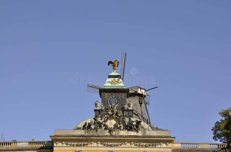 New Palace top from Sanssouci in Potsdam,Germany stock images