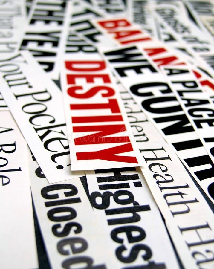 New paper headlines stock photography