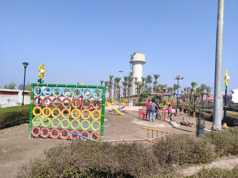 New park for children to play in Ambala City India. New version for exercise. Children young and everybody stock photography