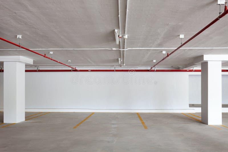 New Parking garage interior, industrial building,Empty underground. royalty free stock photo