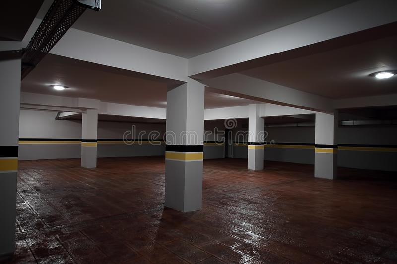 New Parking garage interior, industrial building, royalty free stock photo