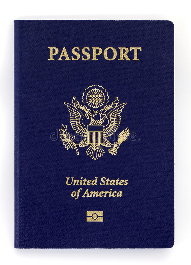 New passport royalty free stock photography