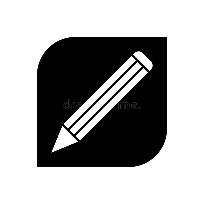 New pencil icon. New pencil black icon isolated stock illustration