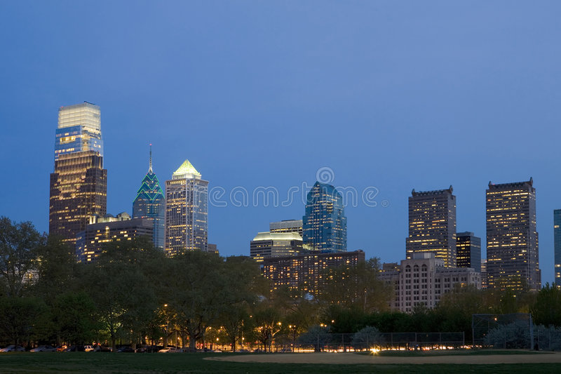The NEW Philadelphia Skyline stock image