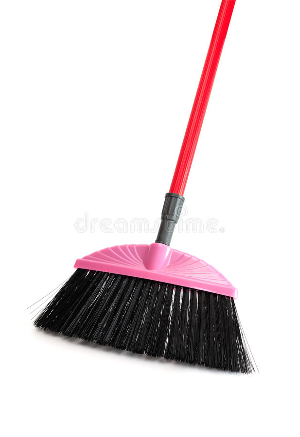 New Pink Broom royalty free stock photography