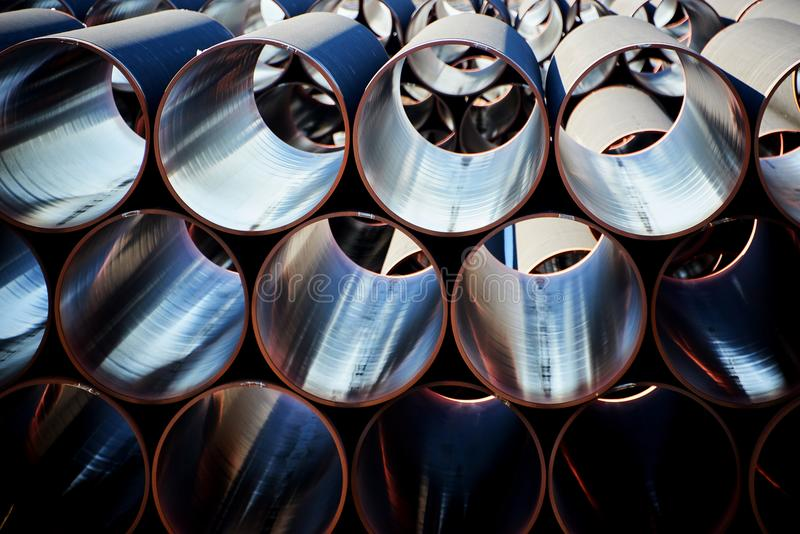 New piplines for Nord stream project. New gas piplines for Nord stream project stock photo