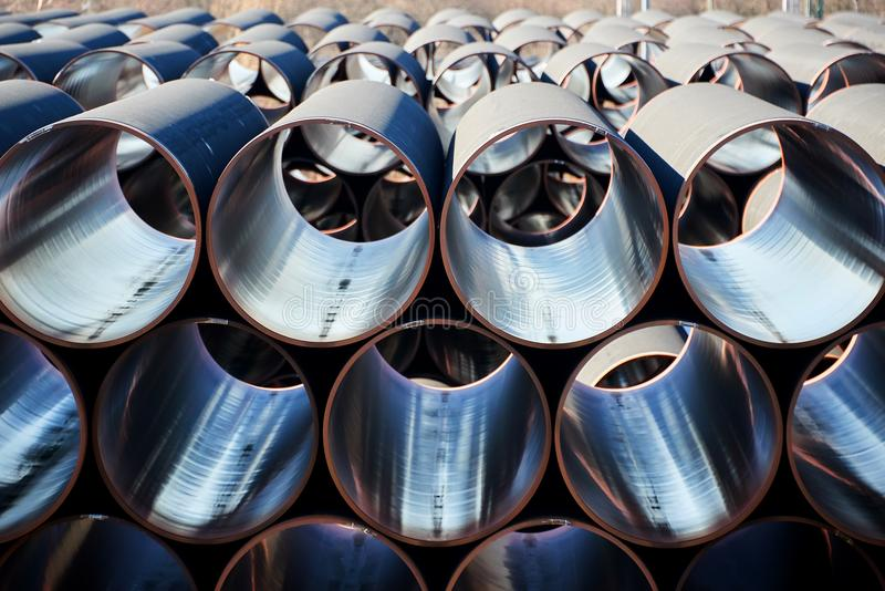 New piplines for Nord stream project. New gas piplines for Nord stream project royalty free stock photos