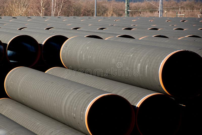 New piplines for Nord stream project. New gas piplines for Nord stream project stock image