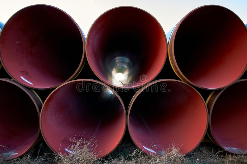 New piplines waiting for Nord stream project. New gas piplines for Nord stream project stock photography
