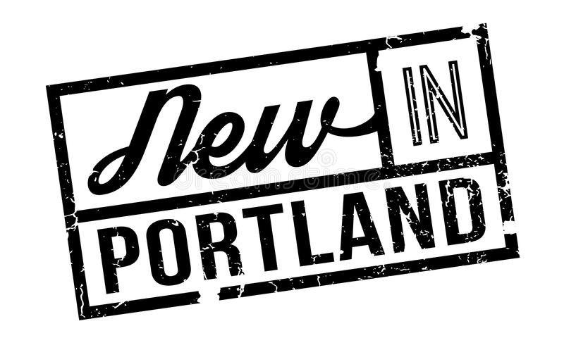 New In Portland rubber stamp stock illustration