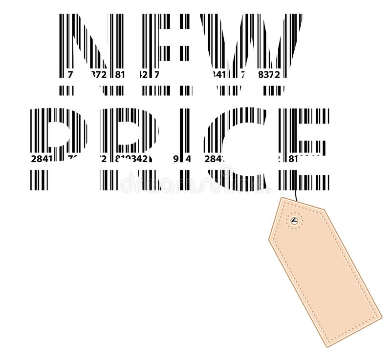 New Price Bar Code With Price Tag stock image
