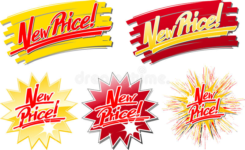New_price_hs illustration stock
