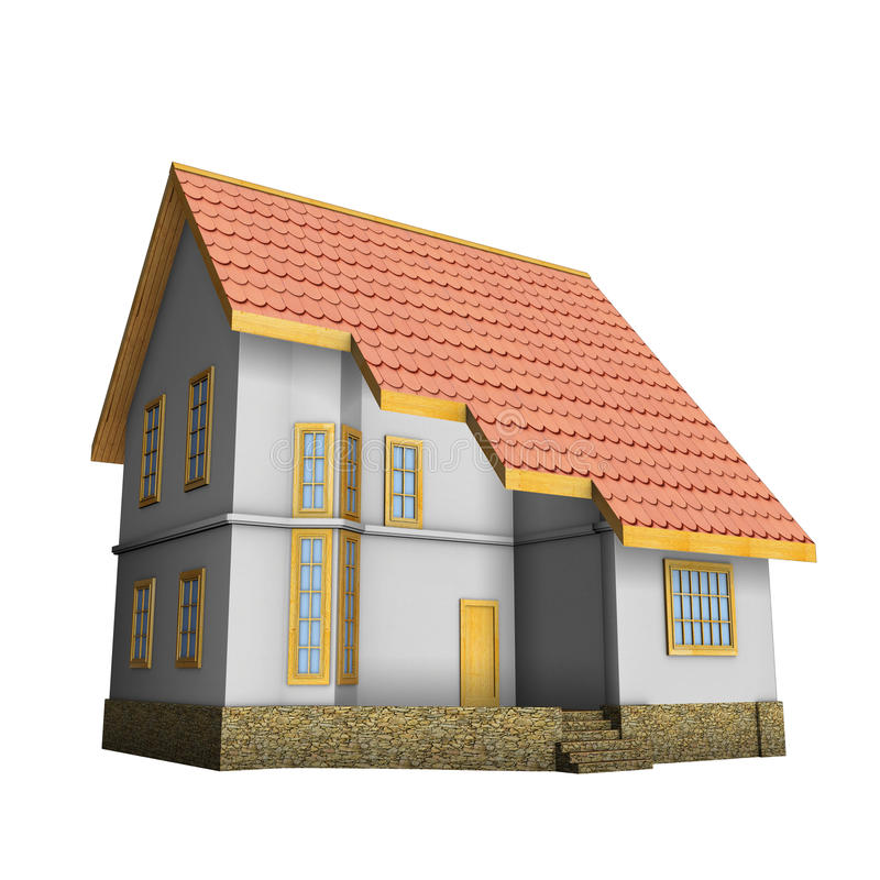 Download New Private Family House. 3d Illustration. Stock Illustration - Image: 17261182