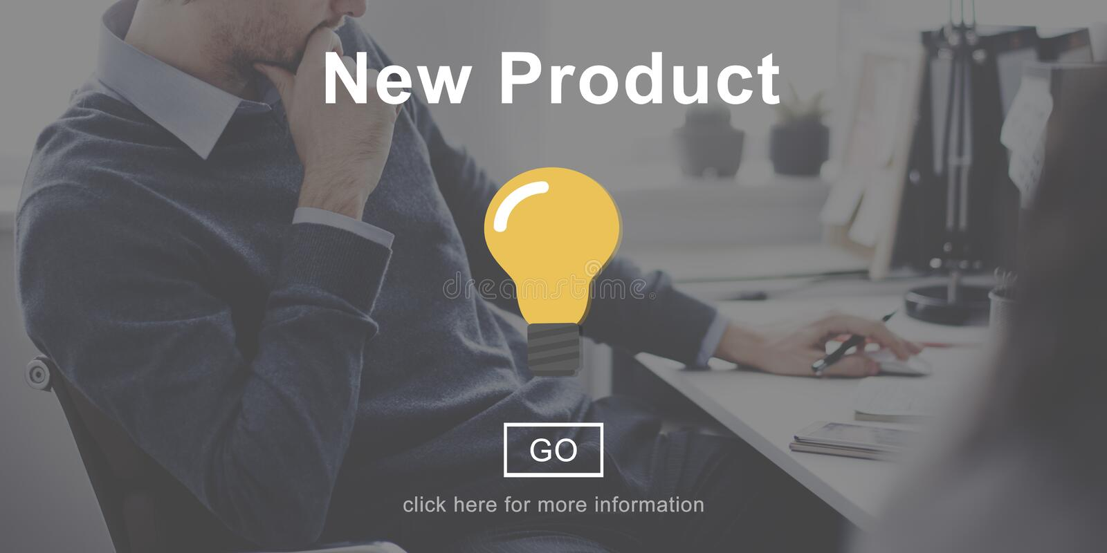 New Product Development Current Modern Concept. Business Current New Product Concept royalty free stock photo