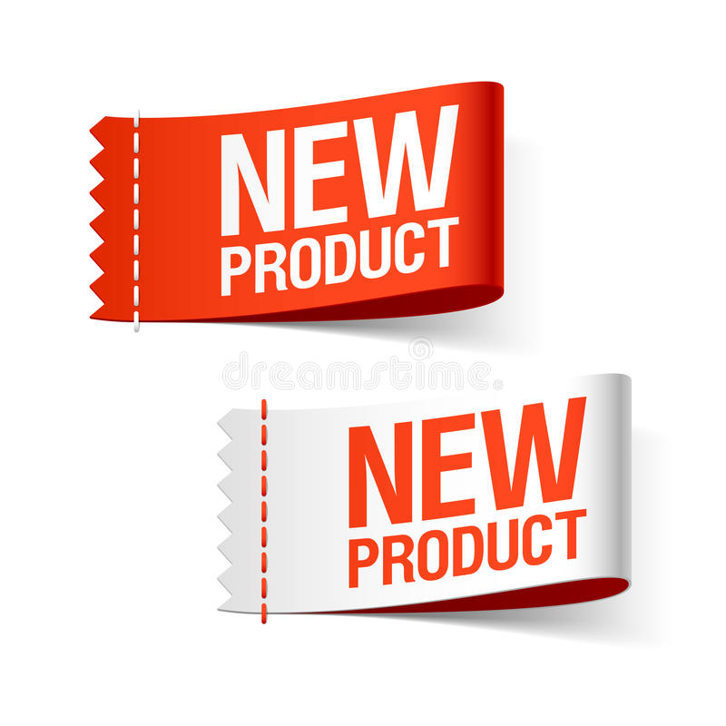 New product labels stock illustration
