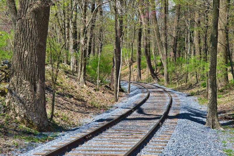 Rail Road Track Right of Way royalty free stock photography