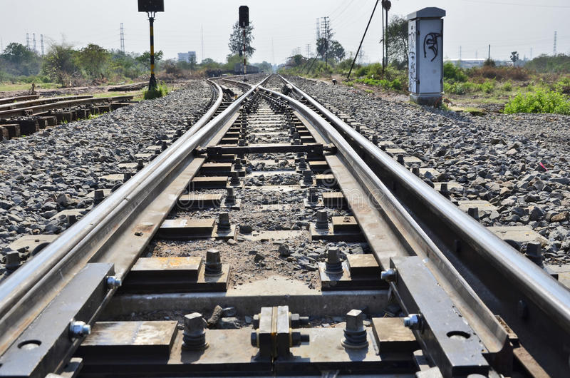 Railway Tool Car,or Maintenance Railcar Stock Image - Image