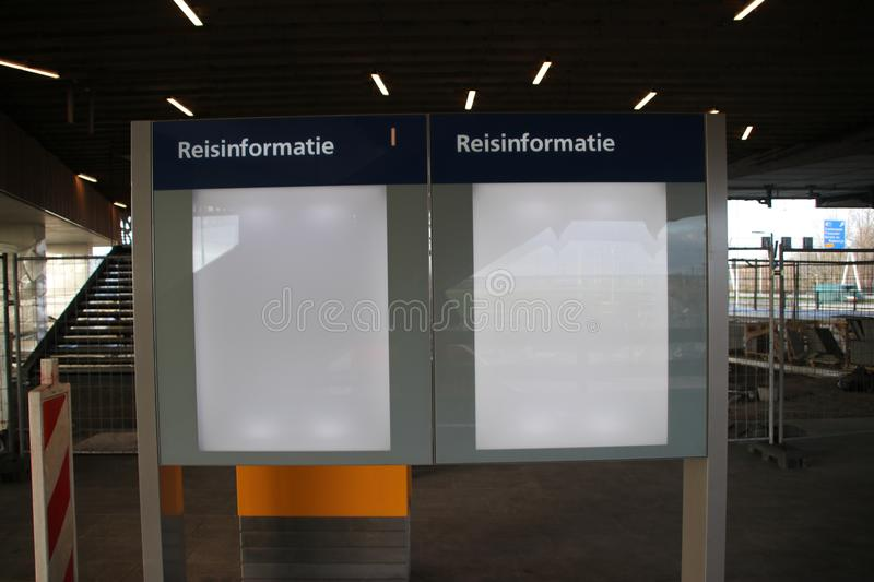 New railwaystation will be used from now on named Zoetermeer Lansingerland. With later on also light rail randstadrail on first floor stock photography
