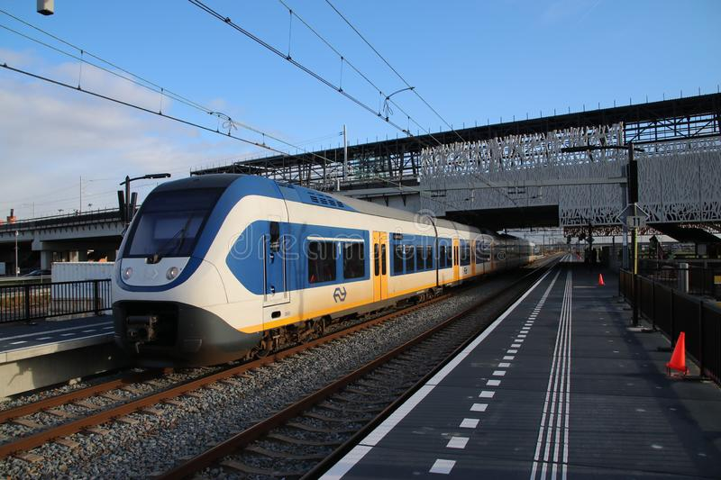 New railwaystation will be used from now on named Zoetermeer Lansingerland. With later on also light rail randstadrail on first floor stock photos