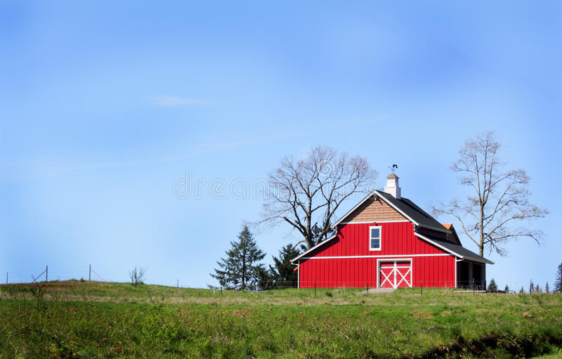 Download New Red Barn stock image. Image of ranch, outdoors, doors - 24704379