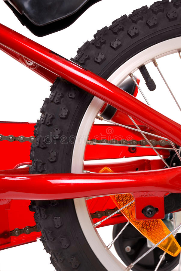 Download New Red Children's Bicycle On White Royalty Free Stock Images - Image: 11873169
