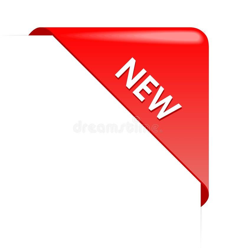 New red corner business ribbon. On white background vector illustration
