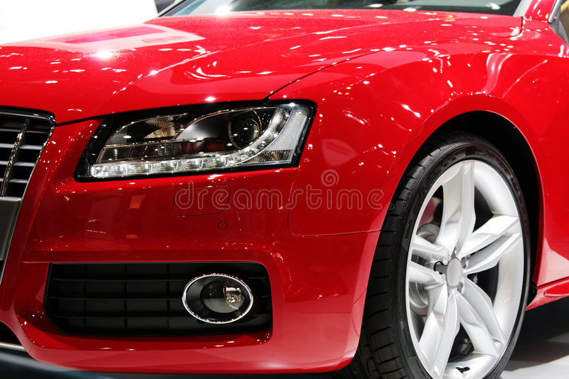 New red sport car royalty free stock photos