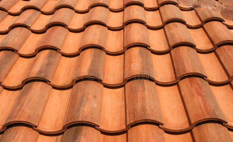 New Red Tiles stock photography